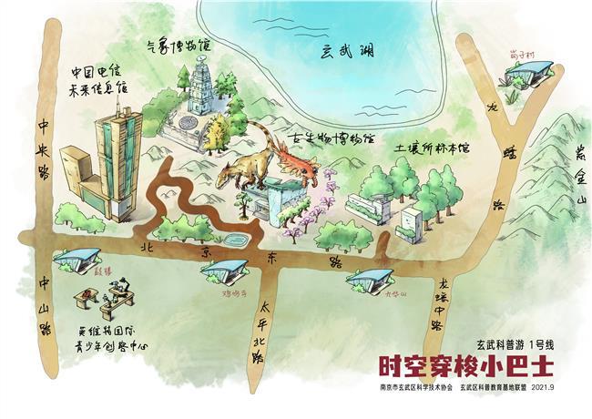 玄武科普游1号线概念图